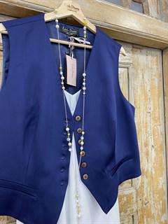 ЖИЛЕТКА для костюма-тройки (Шерсть/Вискоза/Шелк) - фото 8666