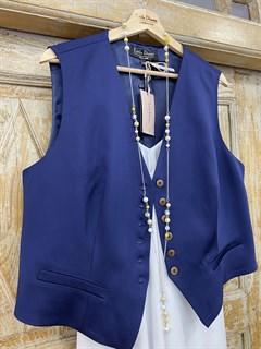 ЖИЛЕТКА для костюма-тройки (Шерсть/Вискоза/Шелк) - фото 8667