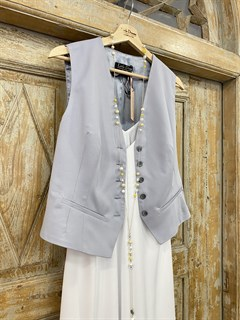 ЖИЛЕТКА для костюма-тройки (из тонкой Шерсти) - фото 8675