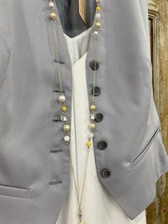 ЖИЛЕТКА для костюма-тройки (из тонкой Шерсти) - фото 8677
