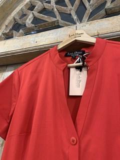 """ПЛАТЬЕ """"РУБАШКА"""" с воротником-стойкой и юбкой на сборке (из хлопка,  длина 80 см ) - фото 8786"""