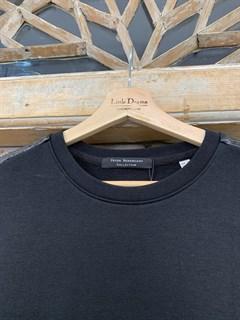 СВИТШОТ PNC с лампасами из эко-кожи - фото 9185