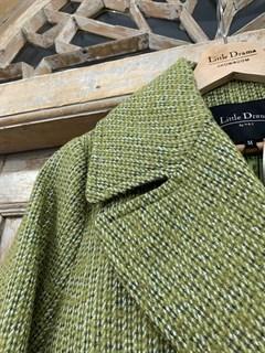 БУШЛАТ из шерстяного твида в зеленую елочку (утепленный) - фото 9218