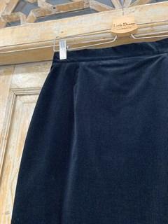 ЮБКА-карандаш (зауженная, высокая шлица) вельвет, длина 70 см - фото 9844