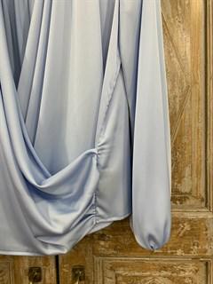 БЛУЗКА на запАхе с мягкой драпировкой (искусственный шелк) - фото 9869