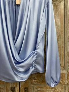 БЛУЗКА на запАхе с мягкой драпировкой (из АТЛАСА) - фото 9887