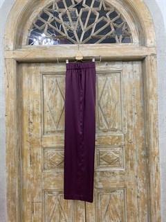 БРЮКИ свободные в пижамном стиле на мягкой резинке (из атласа) - фото 9940