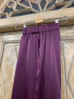 БРЮКИ свободные в пижамном стиле на мягкой резинке (из атласа) - фото 9941