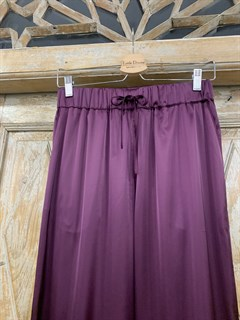 БРЮКИ свободные в пижамном стиле на мягкой резинке (из атласа) - фото 9943