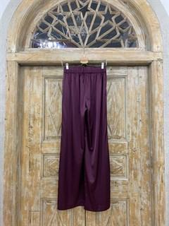 БРЮКИ свободные в пижамном стиле на мягкой резинке (из атласа) - фото 9946
