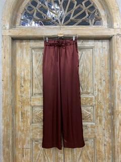 БРЮКИ свободные в пижамном стиле на мягкой резинке (из атласа) - фото 9951
