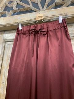 БРЮКИ свободные в пижамном стиле на мягкой резинке (из атласа) - фото 9952