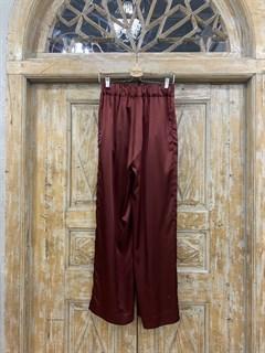БРЮКИ свободные в пижамном стиле на мягкой резинке (из атласа) - фото 9953