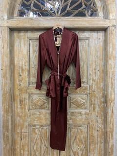 БРЮКИ свободные в пижамном стиле на мягкой резинке (из атласа) - фото 9954