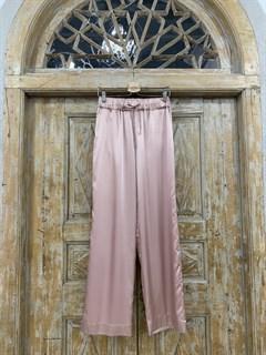 БРЮКИ свободные в пижамном стиле на мягкой резинке (из атласа) - фото 9956
