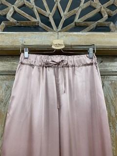 БРЮКИ свободные в пижамном стиле на мягкой резинке (из атласа) - фото 9957