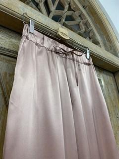 БРЮКИ свободные в пижамном стиле на мягкой резинке (из атласа) - фото 9958