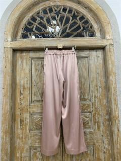 БРЮКИ свободные в пижамном стиле на мягкой резинке (из атласа) - фото 9960