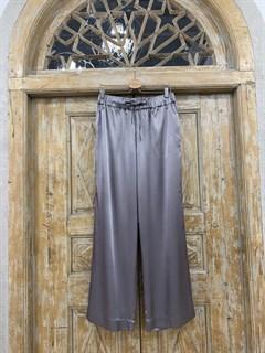 БРЮКИ свободные в пижамном стиле на мягкой резинке (из атласа) - фото 9962