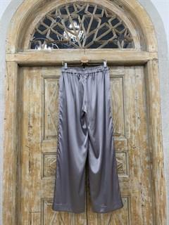 БРЮКИ свободные в пижамном стиле на мягкой резинке (из атласа) - фото 9965