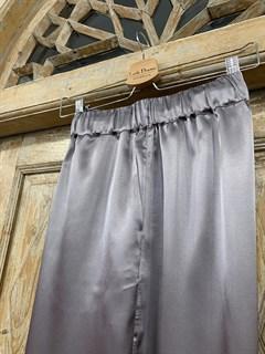 БРЮКИ свободные в пижамном стиле на мягкой резинке (из атласа) - фото 9967
