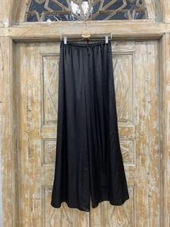 БРЮКИ ШИРОКИЕ односторонние, свободные, на мягкой резинке, OneSize, из атласа - фото 9984