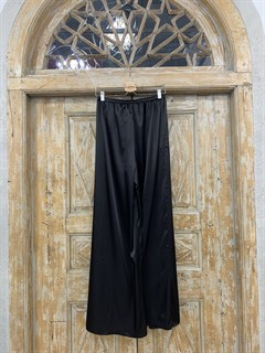 БРЮКИ ШИРОКИЕ односторонние, свободные, на мягкой резинке, OneSize, из атласа - фото 9985