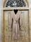 ПЛАТЬЕ-МИДИ с V-вырезом, талией на резинке, оборкой на юбке и рукавами на сборке (Вискоза-Твил) - фото 10390