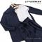 КОСТЮМ ЛЬНЯНОЙ (рубашка свободная и брюки зауженные на резинке с поясом-бант) - фото 5493