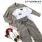 КОСТЮМ ЛЬНЯНОЙ (рубашка свободная и брюки зауженные на резинке с поясом-бант) - фото 5507