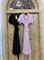 ПЛАТЬЕ на запАхе с рукавами-кимоно, отрезной юбкой полуклеш - фото 7594