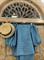 ТОП круизный без плеч, рукава на резинке (ЛЕН в полоску) - фото 8118