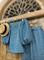 ТОП круизный без плеч, рукава на резинке (ЛЕН в полоску) - фото 8121
